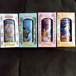 Set Of 4 Disney Burger King Glasses 1994